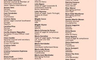 Iberian Lawyer reconoce a nueve de nuestras socias como abogadas más inspiradoras